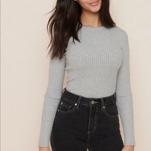GARAGE Ribbed Grey Sweater